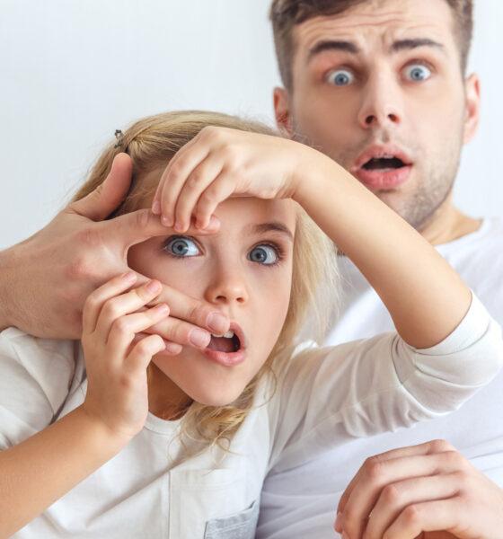 Skræmt far og datter